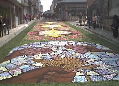 Alfombras florales del Corpus en Ponteareas (Pontevedra)