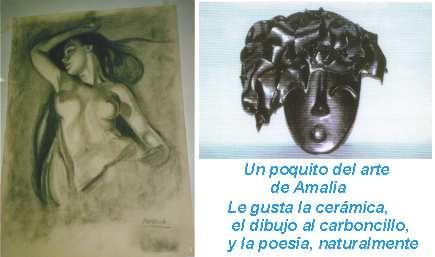 Dibujo y cerámica de Amalia